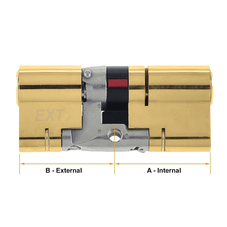 TS2007. Resistente a Golpes de Alta Seguridad uPVC Cerradura Barril para Puertas Yale Platinum 3 Star Cilindro Europeo