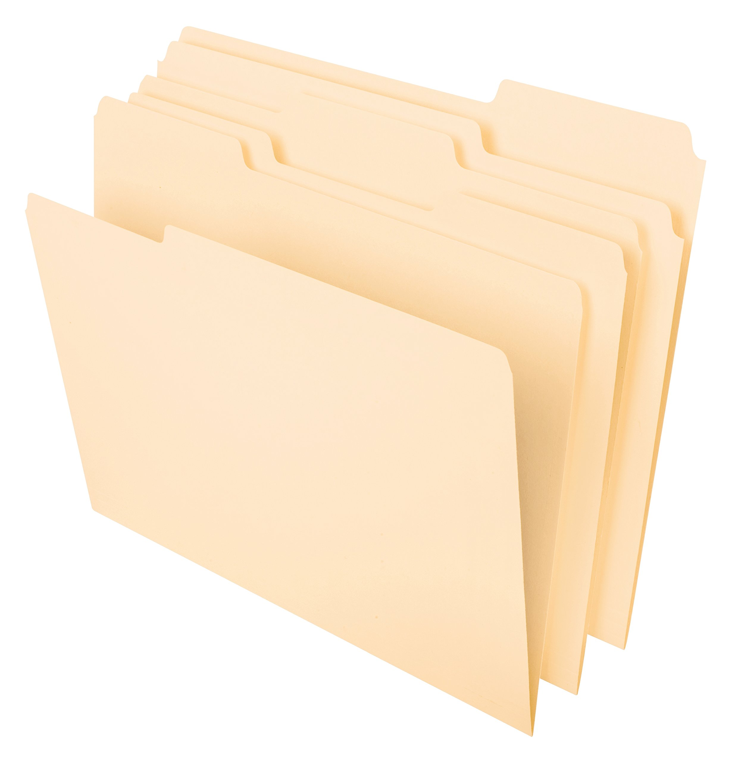 Pendaflex File Folders, Letter Size, 8-1/2'' x 11'', Classic Manila, 1/3-Cut Tabs in Left, Right, Center Positions, 100 per Box (65213)