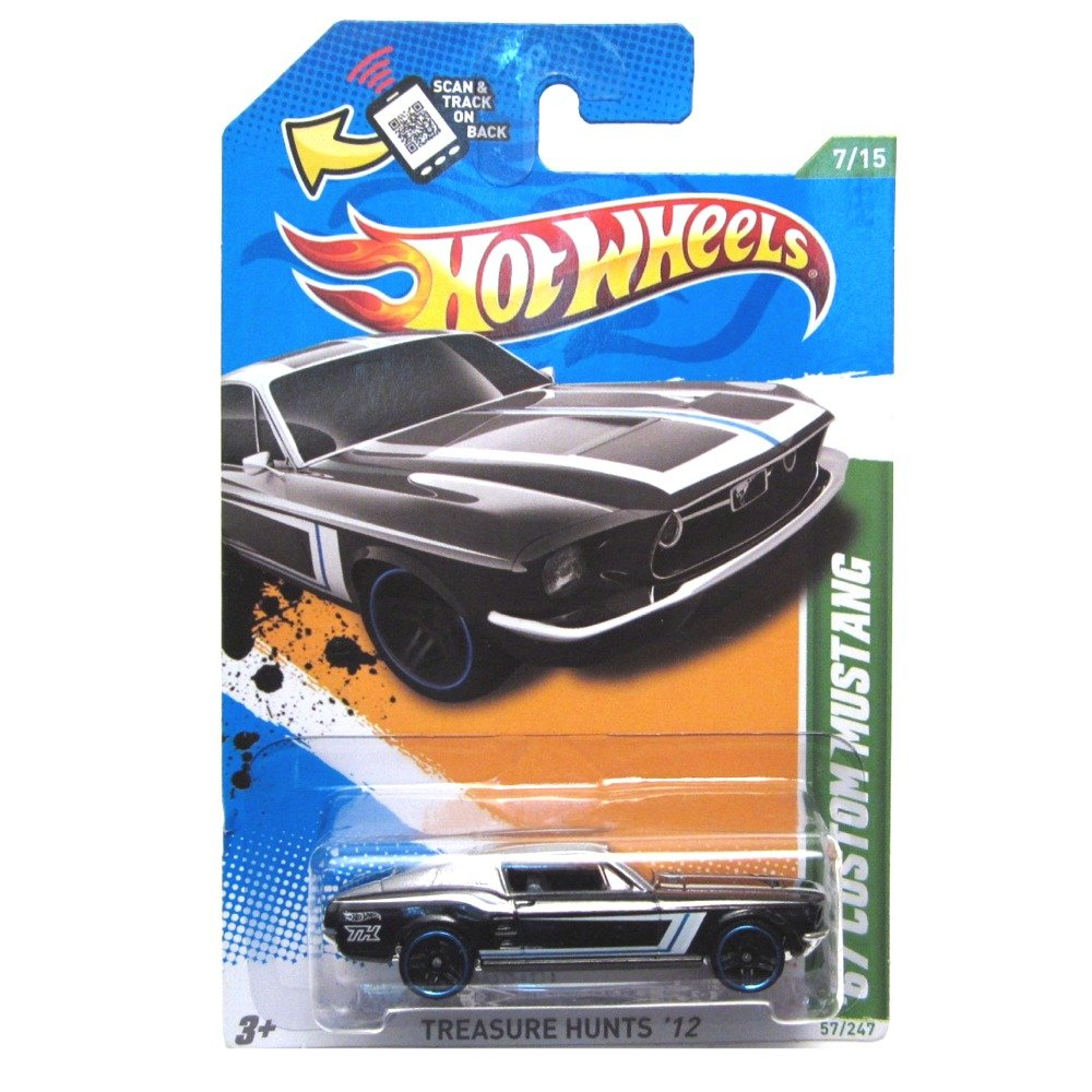 Hot Wheels 67 67 67 Custom Mustang '12 Treasure Hunt 57/247 (schwarz) Fahrzeug f94715