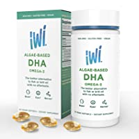 IWI Omega-3 Oil DHA - Doctor Recommended Algae Oil Soft Gel Capsules - 30 Day Supply...