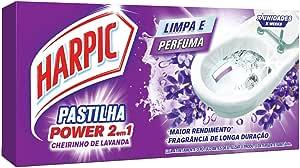 Pastilha Sanitária Adesiva 2Em1 Lavanda Com 3 Unidades De 9 G Cada, Harpic