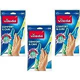 Vileda 01285-16-2-109 Comfort & Care Gloves - Size M - Pack of 3