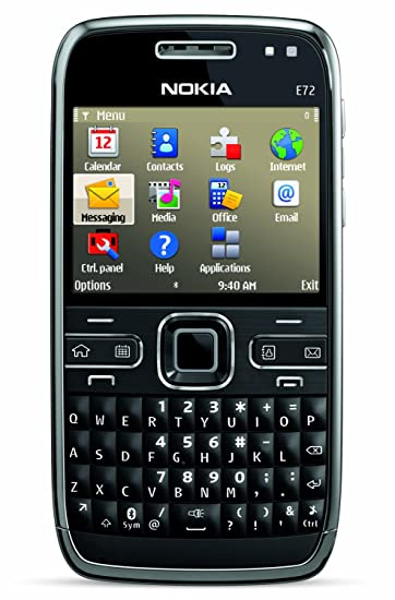 Nokia E72 Unlocked Phone Featuring GPS with Voice Navigation - US Version  with Full Warranty (Zodium Black)