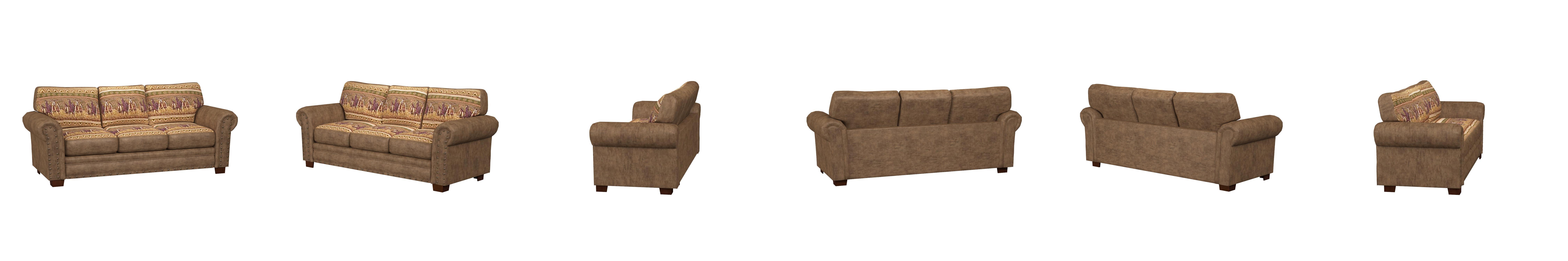 Amazon.com: American Furniture Classics Wild Horses Sofa: Kitchen ...