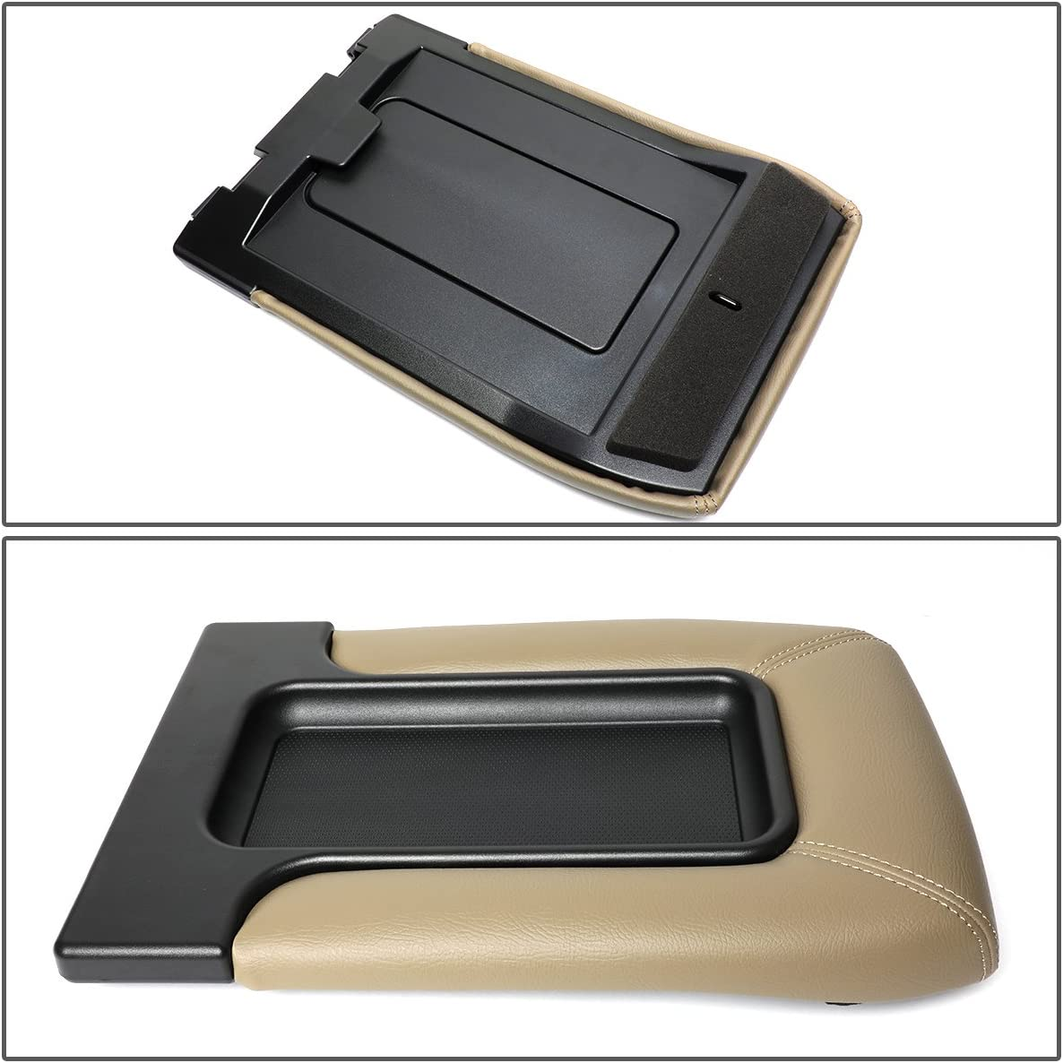 DNA MOTORING GECS-001-YE Center Console Lid Kit Arm Rest Latch for 01-07 Silverado//Sierra