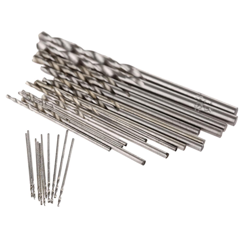 Mtsooning 25 Pcs Micro 0.5mm-3mm High Speed Steel Straight Shank Mini Twist HSS Drill Bit Tools Electric Dril Jewelry Pcb Mini Twist Drill Buildamznuk0907