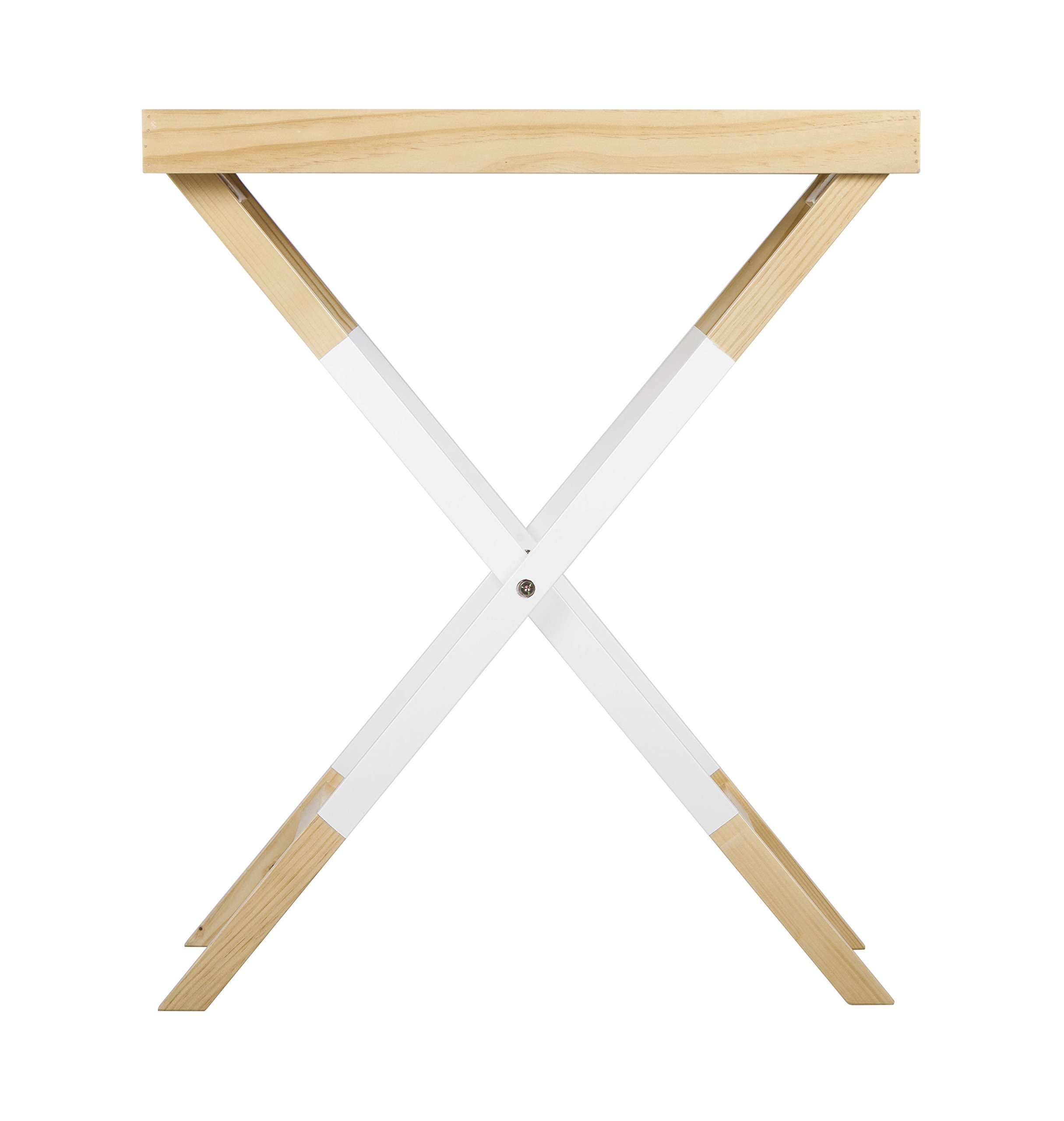 Universal Experts FUST10026A Remus Folding Tray Table, Oak/White by Universal Experts (Image #7)