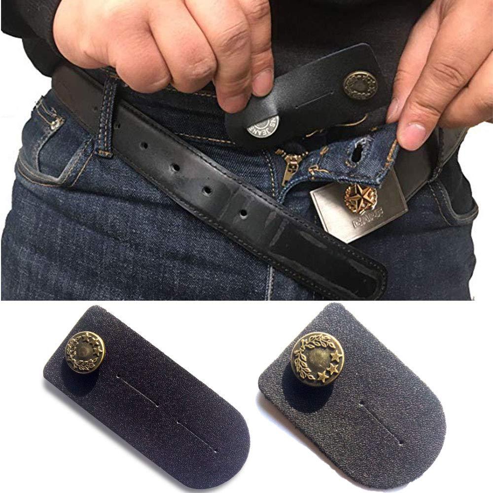 mit Bronze Taste f/ür Jeans R/öcke oder Shorts schwarz Hosen Taille Extender Set von 2 F/ür M/änner oder Frauen