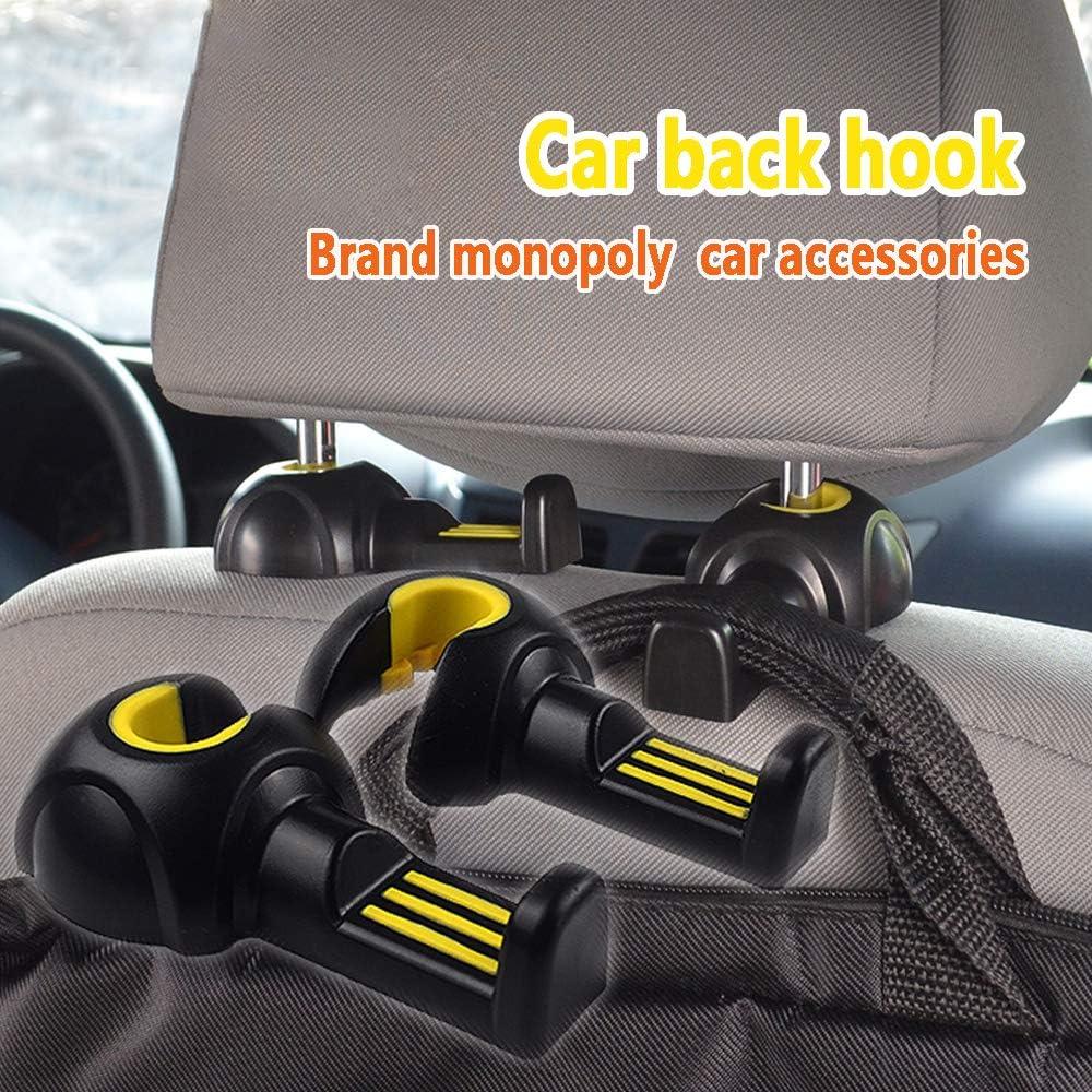 car Hanger ACENI Car Seat Back Headrest Hanger Hooks Black Set of 2