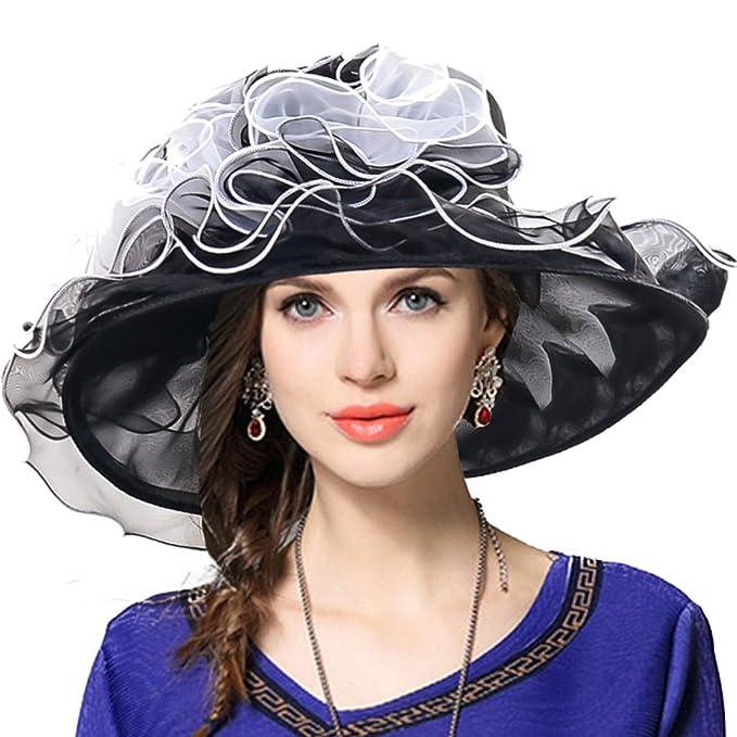 two tone tea party kentucky derby church hat wedding dress hat bridal shower black