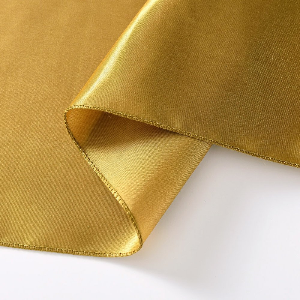 Ecore Gold Table Runner 10 Pack Satin Table Runners,12 x 108 Inches For Wedding Banquet Decoration by ECORE (Image #2)