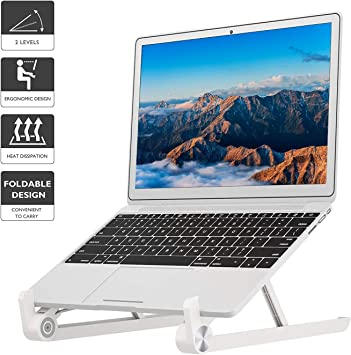 Foldeable Portable Laptop Stand Tablet Holder Riser Alloy  For 11-15inch PC iPad