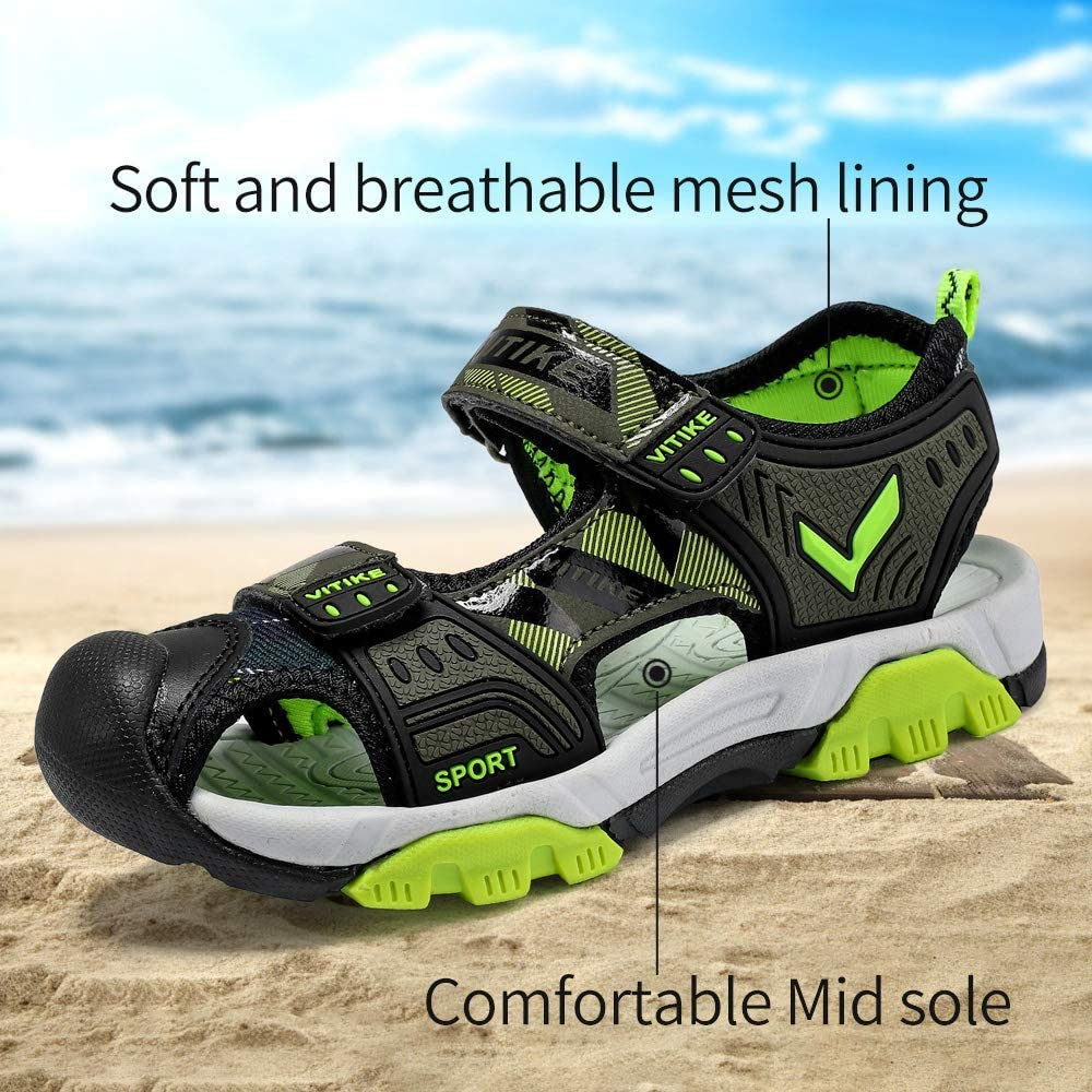 FANGFIUP Kids Sandals Boys Outdoor Hiking Sports Sandal Girls Pool Beach  Shoes Summer Water Shoe Sneakers Sandals Clothing, Shoes & Jewelry