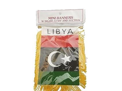 Libya flag Mini banner rearview mirror window flag car Home Libyan pride