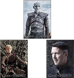 Game of Thrones Licensed Refrigerator Locker Three Magnet Bundle Villains White Walker Night King, Littlefinger Lord Petyr Baelish, and Joffrey Baratheon