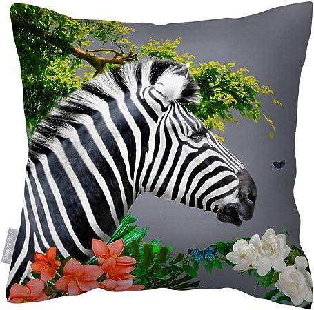 Hand made Decorative Garden birds Graphite Grey cushion cover