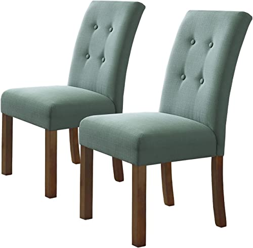 HomePop Parsons Classic Button Tufted Accent Dining Chair
