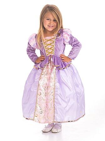 Little Adventures - Disfraz de Princesa clásica de Rapunzel para niñas, tamaño Grande (5