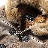 Mens Winter Deer Velvet Skin Thickening Coat