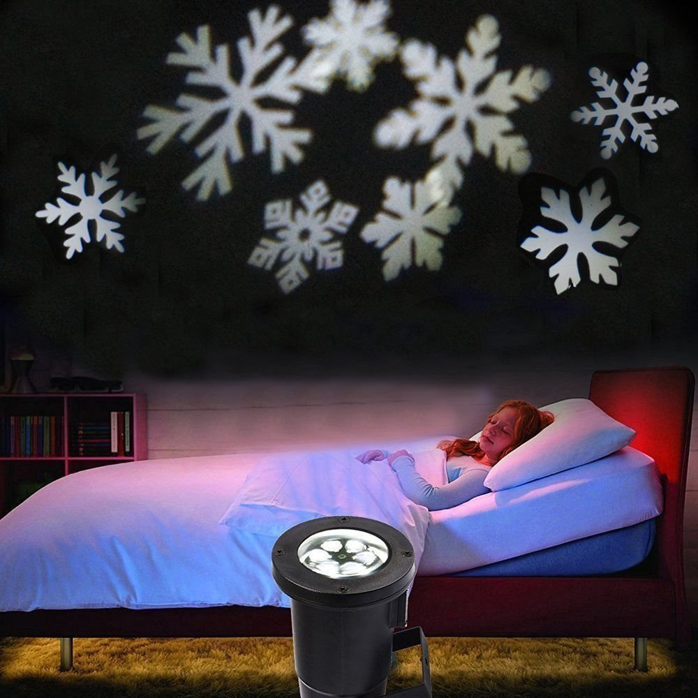 Podofo Waterproof Snowflakes Lamp Light Sparkling Landscape LED Projector for Indoor Outdoor Christmas Holiday Home Decoration (White) by podofo (Image #2)