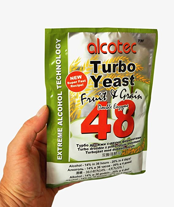 alcotec Turbo Levadura 48h ❁ especial fruta & Grano ❁ 14% en 36 horas ❁ 20% en 4 días: Amazon.es: Hogar