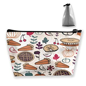 Thanksgiving Pumpkin Apple Pie Cosmetic Bag Cosmetic Case Toiletry Bag Travel Case Makeup Bag Organizer For Women Travel Gifts