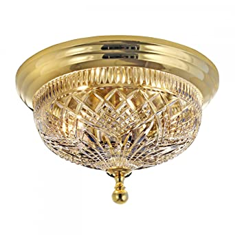Waterford beaumont 12 ceiling fixture with polished brass finish waterford beaumont 12quot ceiling fixture with polished brass finish mozeypictures Image collections