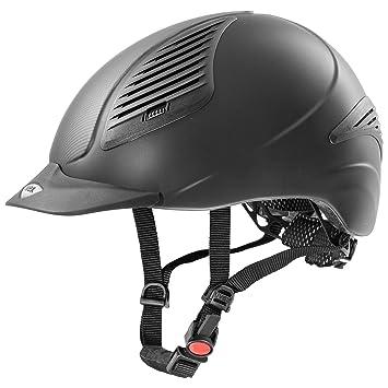 Uvex Exxential – Casco de equitación Fade | Color Black de Anthracite | tamaño: 52