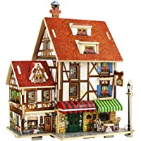 DingLong Kreativ Geschenk DIY Puppenstube Miniatur Puppenhaus Blaue K/üche Dollhouse f/ür Kinder Freunde Geburtstags 11.5x11.5x12cm