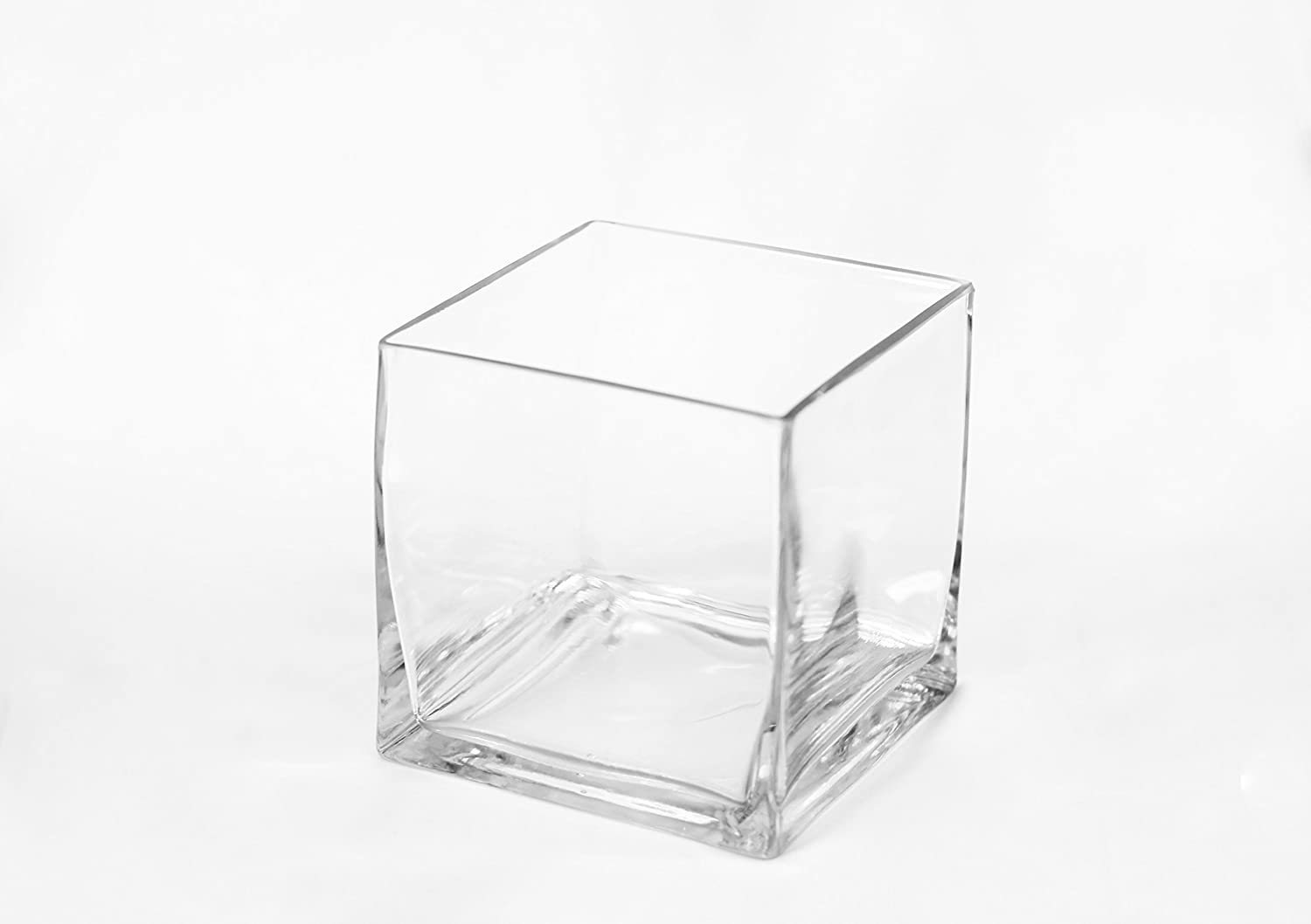 Amazon Com Beyond Vases 12 Pack 5 X 5 Clear Square Small Glass