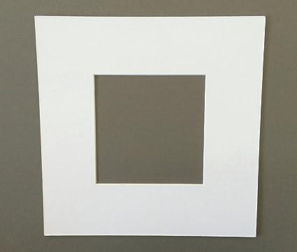 Amazon.com: 16x16 Square White Picture Mats with White Core Bevel ...