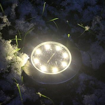Beleuchtung garten solar  Oyedens 8 LED Solarbetriebenes Bodenlicht Solar Power Buried Licht ...