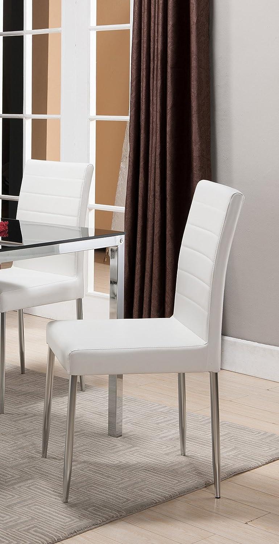K B Furniture Belmont White Dining Chair – Set of 4