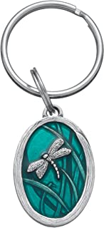 product image for DANFORTH - Dragonfly Keyring (Teal) - 1 1/2 Inches - Pewter - Key Fob - Handcrafted - Made in USA