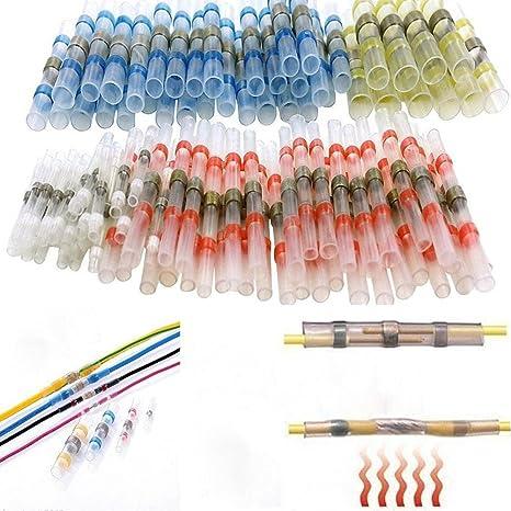 Cutogin, 100 unidades de terminales de alambre de soldadura termorretráctiles resistentes al agua