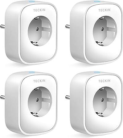 TECKIN Enchufe Inteligente, 16A 3680W Enchufe WiFi Con Monitor de Energía, Compatible con Alexa ...