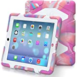 iPad 2/3/4 case,kidspr ipad caseNEWHOT Super Protect[shockproof] [rainproof] [sandproof] with Built-in Screen Protector for Apple iPad 2/3/4,2015 new style for ipad 2/3/4 (Camouflage pink/white) ¡­