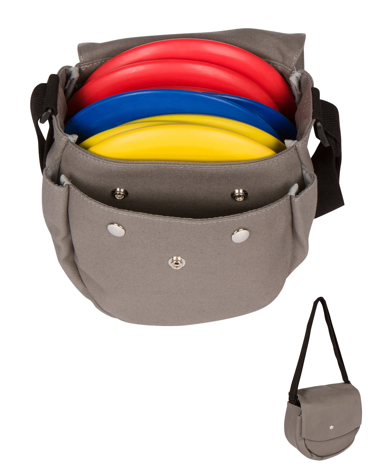 Trademark Innovations Disc Golf Set 9'' Frisbee Disc Golf Canvas Carry Bag with 9 Discs by Trademark Innovations