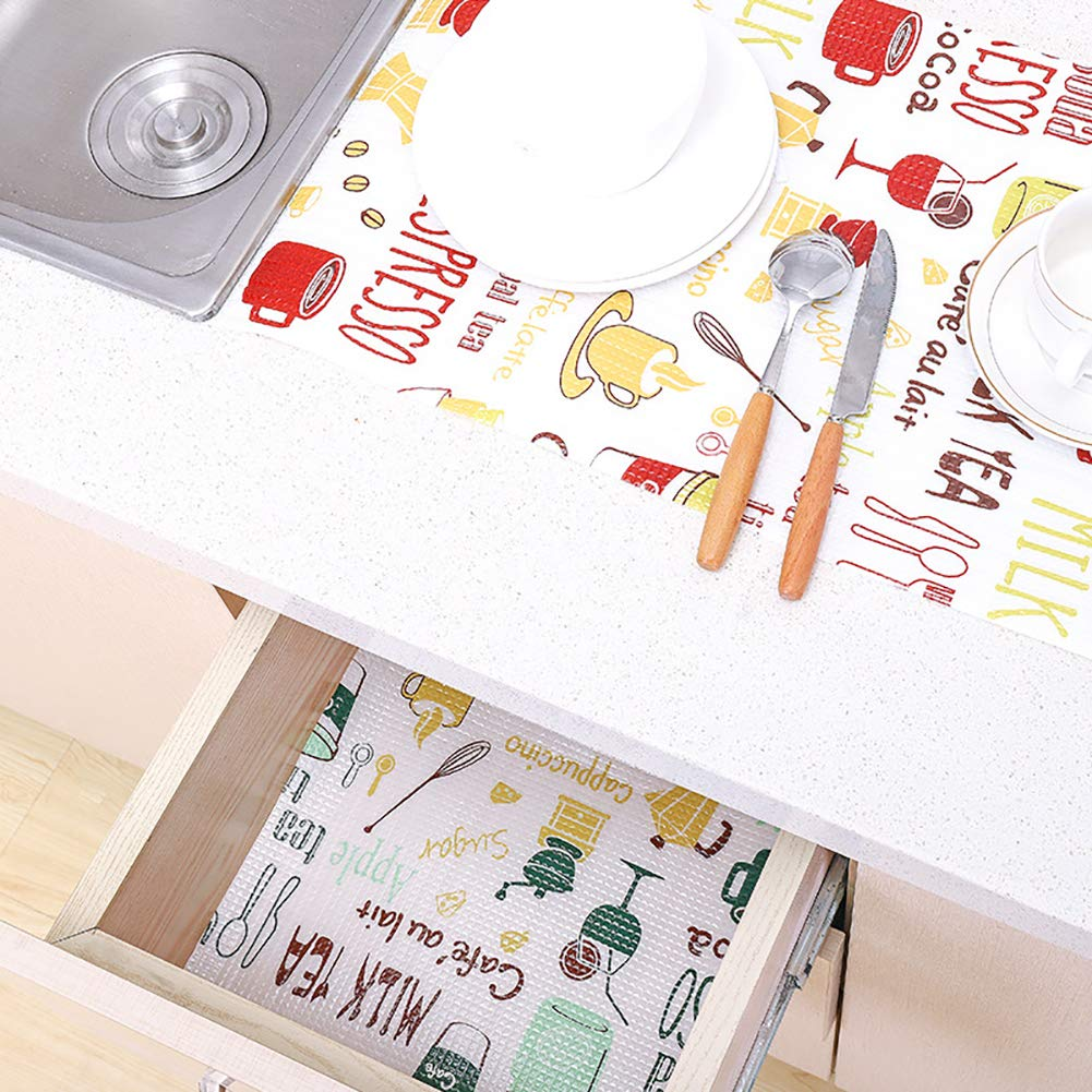 Ouken Refrigerator Mats Refrigerator Liners Washable Can Be Cut Refrigerator Pads Fridge Mats Drawer Table Placemats Size