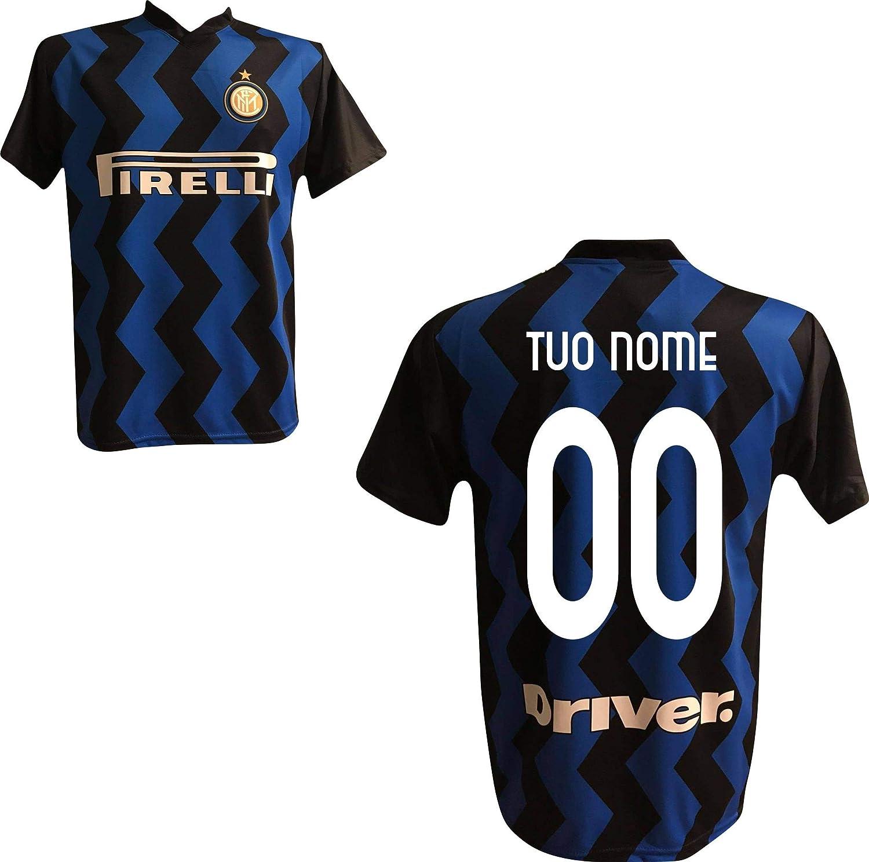 FC Inter - Camiseta réplica de casa de color negro y azul con número personalizado personalizable 2019/2020 (Godin Iardi Politano Skriniar) para adulto niño (10 años): Amazon.es: Ropa y accesorios