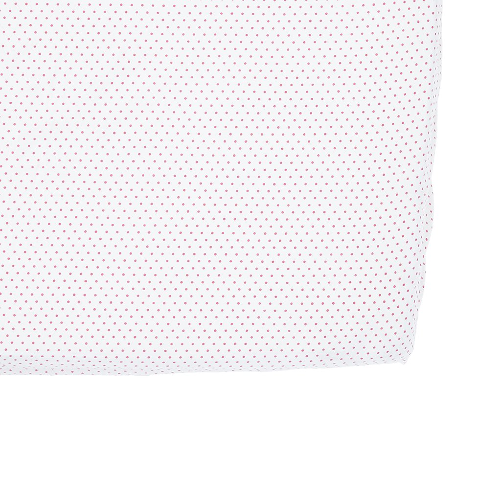 PINCS04 Pehr Fuchsia Pin Dot Crib Sheet Pehr Designs Baby