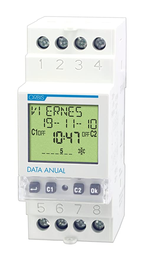 Orbis Data Anual 230 V Interruptor horario Digital de Distribuidor, OB176100