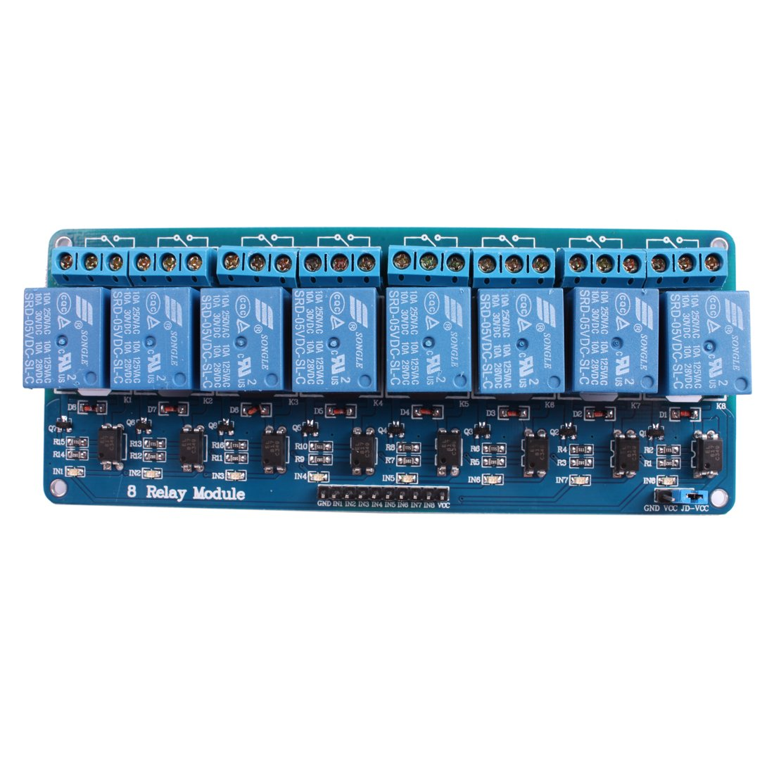Relay Board For Arduino Jbtek 8 Channel Dc 5v Module Raspberry Pi Dsp Avr Pic Arm