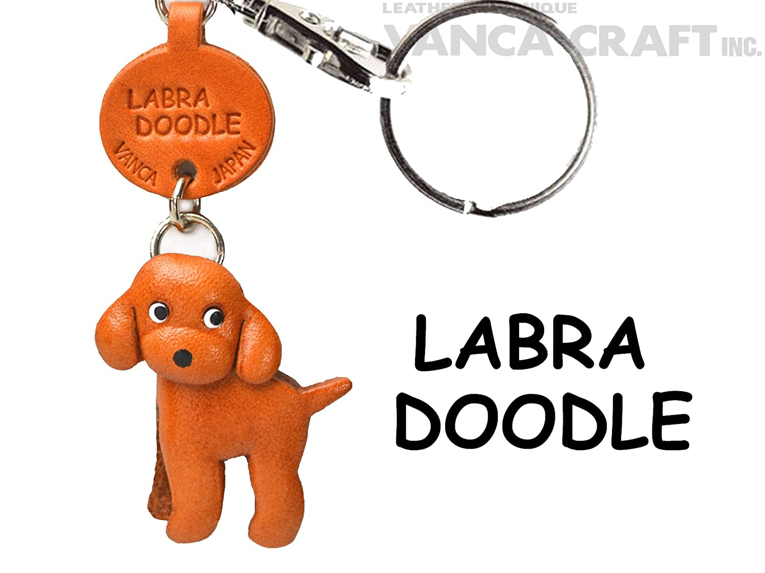 Lion Leather Animal Small Keychains VANCA CRAFT-Collectible Keyring Charm Pendant Made in Japan ...
