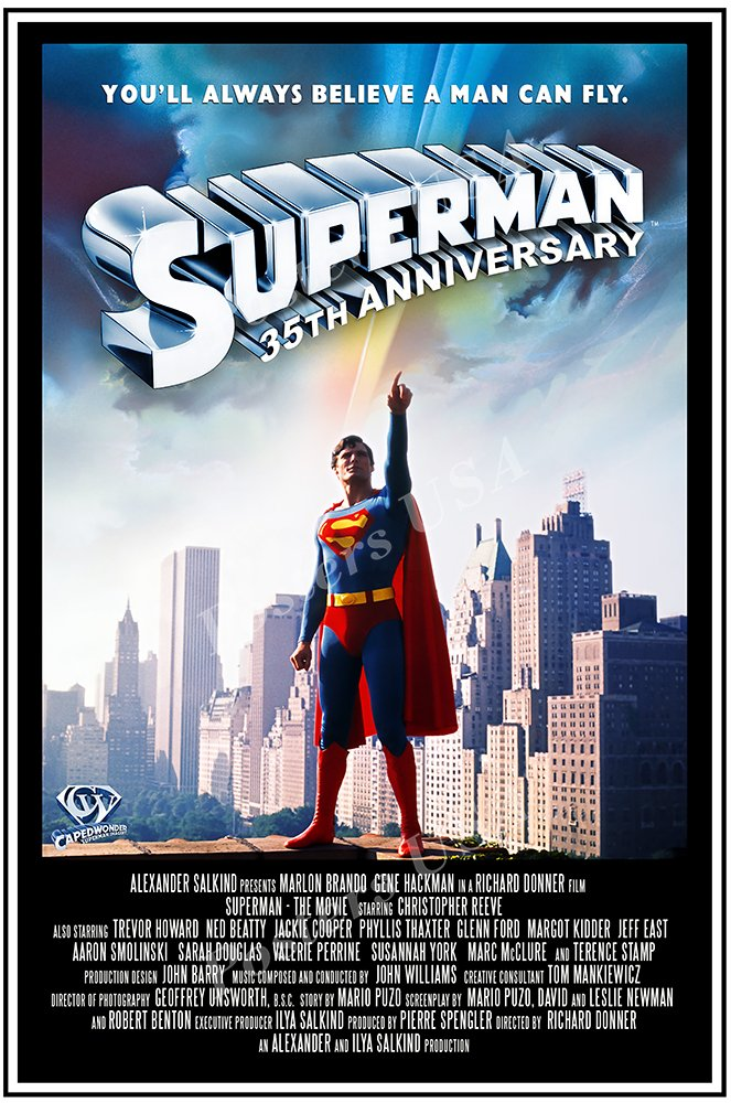 "Posters USA - DC Superman 1978 Movie Poster GLOSSY FINISH - FIL237 (24"" x 36"" (61cm x 91.5cm))"
