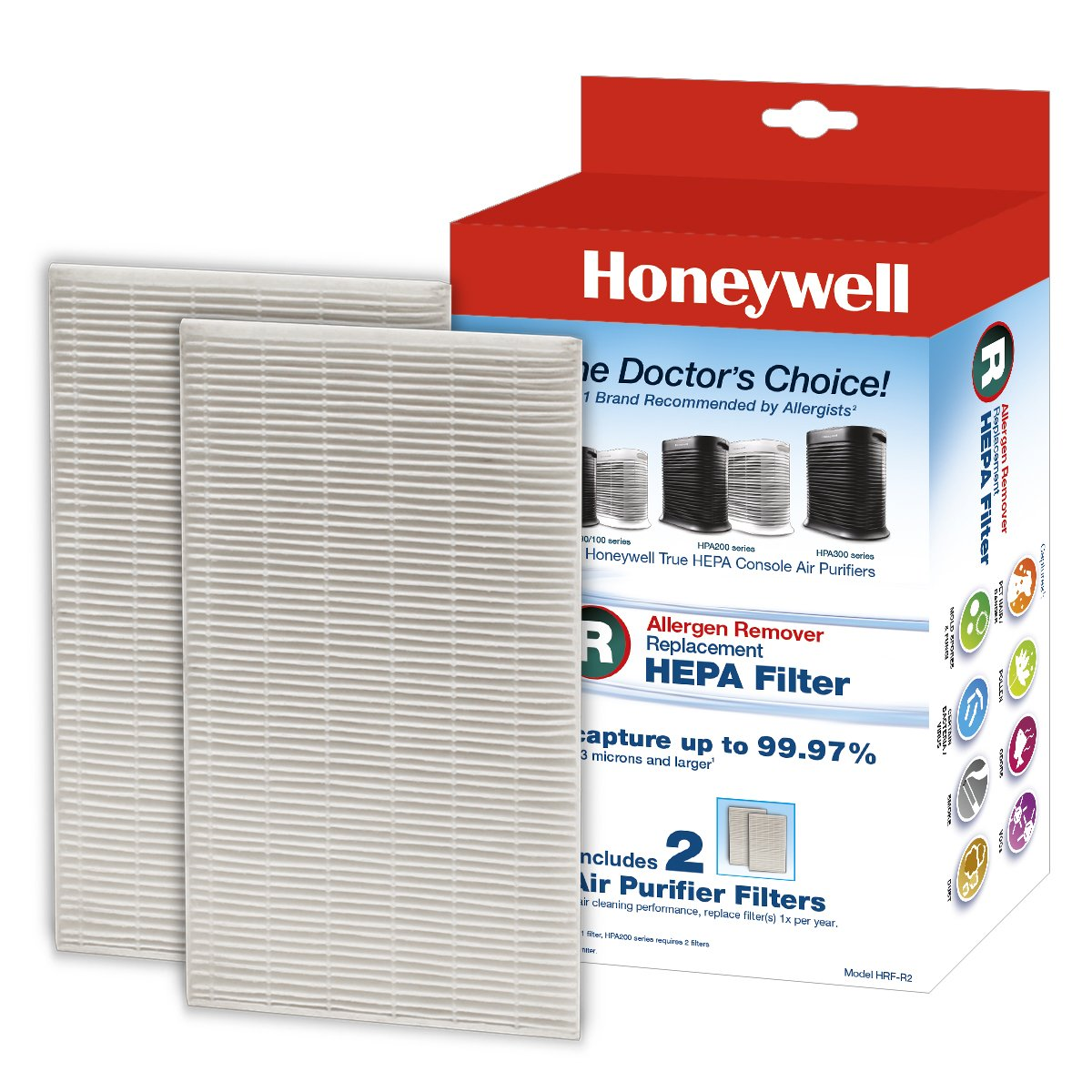 Honeywell True HEPA Replacement Filter HRF-R2 - 2 Pack Helen of Troy