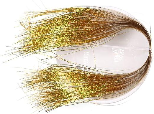 2 Packungen zum Fliegenbinden WNDSYN Angelk/öder Flach Holo Lametta Flash Hecht Salzwasser Stahl Luftschlangen Material 0,35 mm Silber Gold Rot