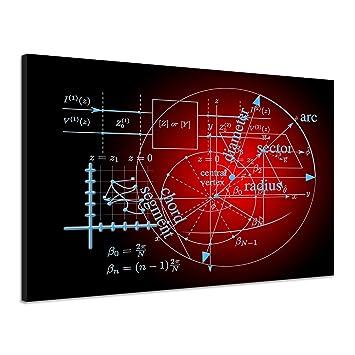 Amazonde Mathematik Physik Formel Rechnung Wurzel Rot Leinwand