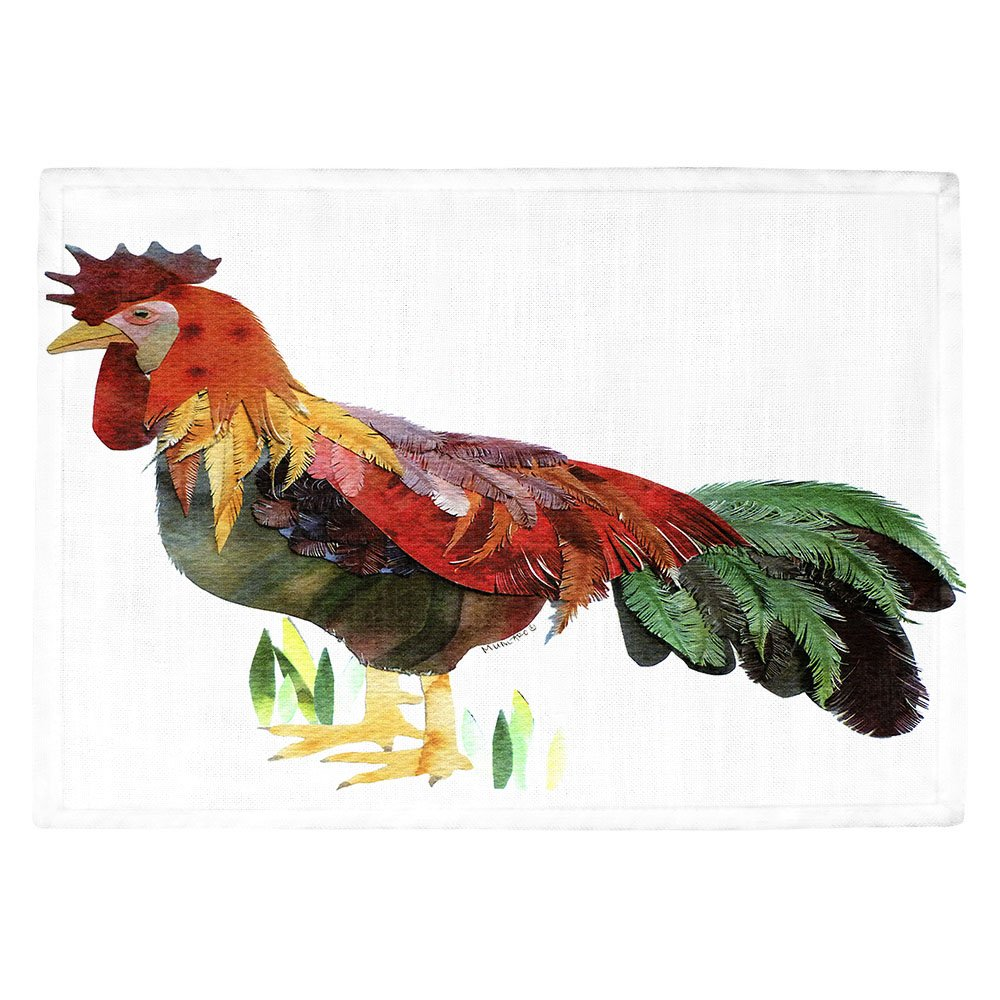 DIANOCHEキッチンPlaceマットby Marley Ungaro – Rooster Set of 4 Placemats PM-MarleyUngaroRooster2 Set of 4 Placemats  B01EXSJ8PC