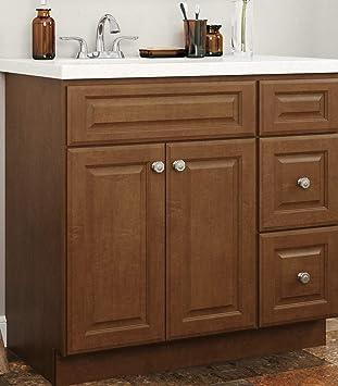 36 Solid Wood Bathroom Vanity Self Assembly Amazon Com